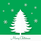 Stylish Holiday Paper Christmas Tree Design vector illustration