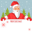 Santa Claus with Christmas greetings, eps10