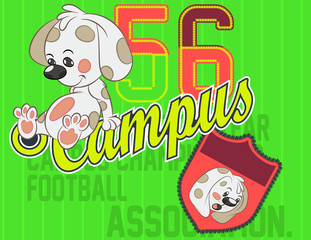 Athletic department Vector artwork for children wear in custom