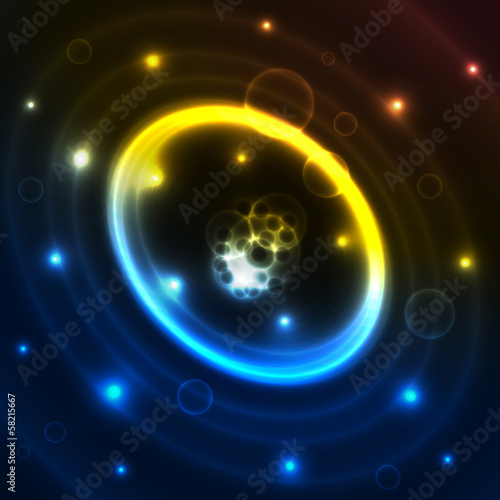 The circle night abstraction