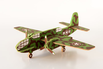 Maqueta De Avión De Guerra En Madera