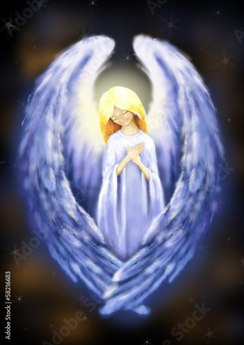 Illustration of beautiful angel
