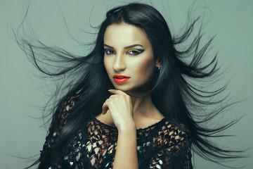 beauty portrait of a brunette.
