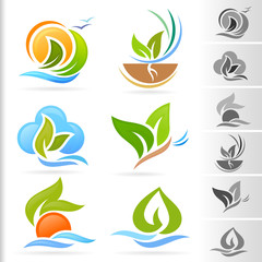 Nature Symbol and Icons series -1