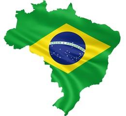 brasilien flagge stoff