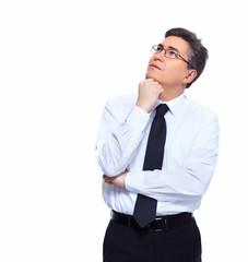 Businessman thinking solution