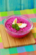 Chilled soup - seasonal polish beetroot soup