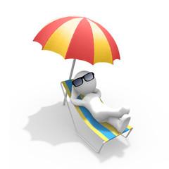 Mr. Smart Guy nimmt ein Sonnenbad