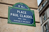 place Paul Claudel à Paris 6ièm