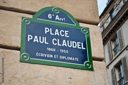 Poster place Paul Claudel à Paris 6ièm