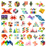 Fototapety Set of infographic geometric templates - triangles