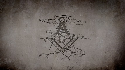 Freemason Symbol Appearing on a Wall