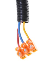 Installation electrical cables with terminal block