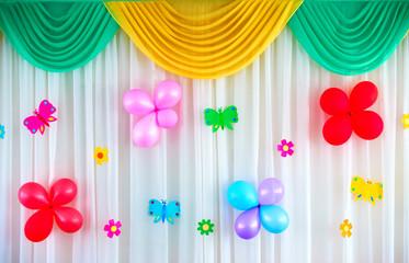Festive curtain