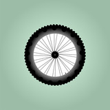 Front view of bike wheel