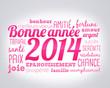 bonne année 2014 - rose