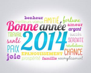 nuage de mots : bonne année 2014