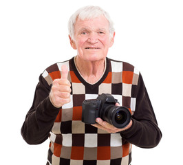 senior photographer giving thumb up