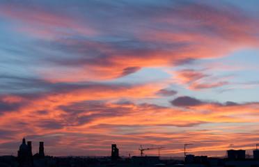 Sunset over Maltese town