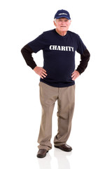 senior charity worker portrait