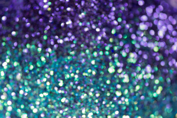 Glitter natural bokeh. Very shallow depth of field