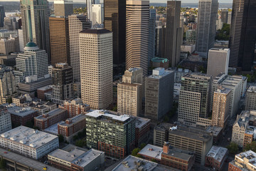 Aerial Photo City Skyline, Seattle, Washington, USA