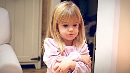 Christmas Eve little girl displeased