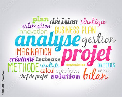 nuage de mots : analyse de projet