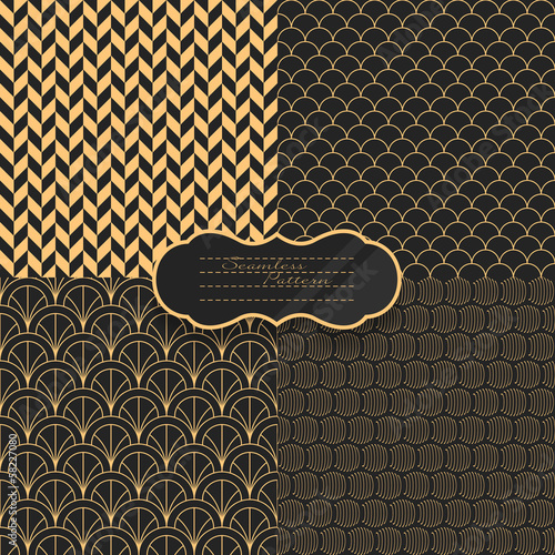 Seamless pattern set. Vector illustration
