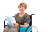senior woman in a wheelchair portrait