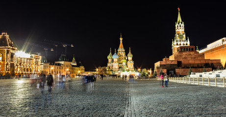 red square night time