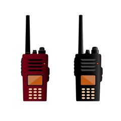 Walkie talkie and police radio or radio communication