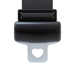 Seat Belt with heart shape