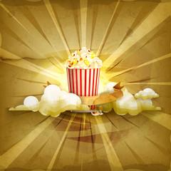 Popcorn, old style background