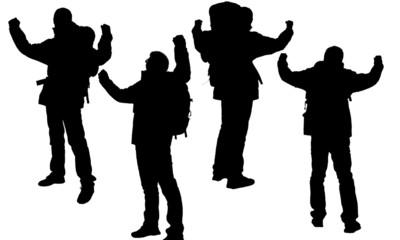 Person's silhouette