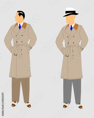 detectives in trench coats