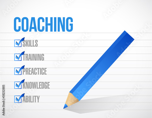 coaching check mark list illustration design