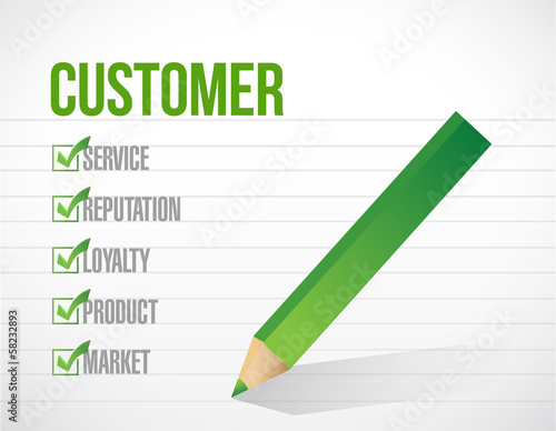 customer check mark list illustration design