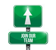 join our team road sign illustration design