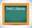 todays agenda message written on a chalkboard