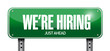 we are hiring just ahead road sign illustration