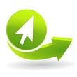 cliquez ici sur symbole vert