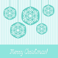 Elegant Christmas greeting card with snowflakes