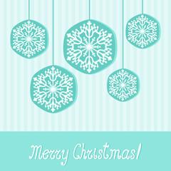 Elegant Christmas greeting card with snowflakes