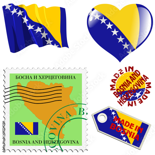 national colours of Bosnia