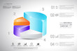 3D pie chart infographic - eps10 vector