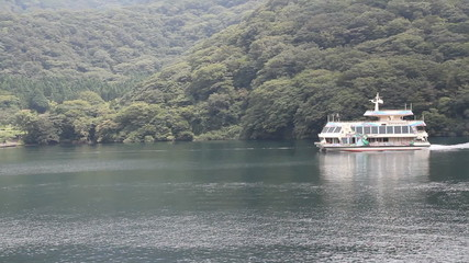 Atmosphere around Lake Ashi, Tokyo, Japan.