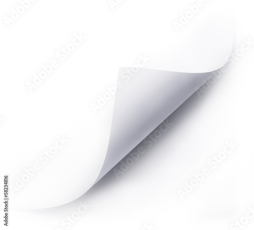 folded white paper sheet
