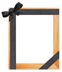 Funeral wooden frame
