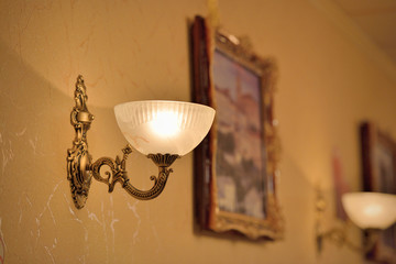Classic sconce on the wall